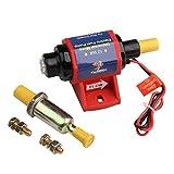 """Universal Electric Fuel Pump 4-7 PSI 35 GPH Gasoline Fuel Pump 5/16"""" Inlet and Outlet External Fuel Pumps for V4 V6 V8 Carburetor"""