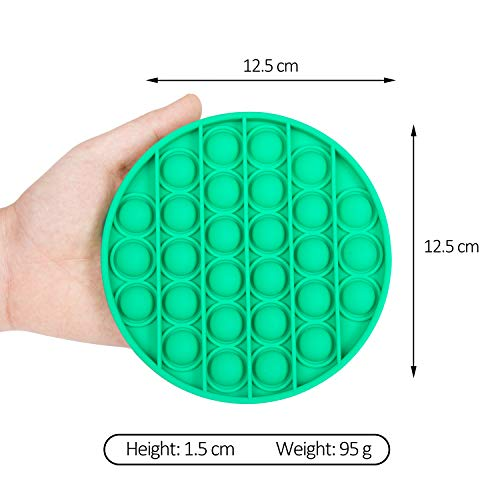 nixo Push Bubble Pop Fidget Toy, Green, Circle, Pack of 1 Popper Bubble Stress Relief Toy, Perfect Bubble Poppet Sensory Fidget Toy for Kids and Adults, Best Anti-Anxiety ADHD Popping Toy