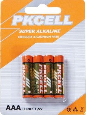 Pkcell LR03-4B 1.5V Ultra Alkaline AAA Size Battery44; Pack of (Aaa Alkaline Family Pack)