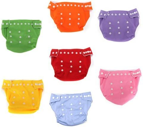 ACHICOO Water /& Wood 7pcs Reusable Washable Adjustable Baby Soft Cloth Diaper Nappy Toddler Dry Tender Care Gag Gifts for Kids