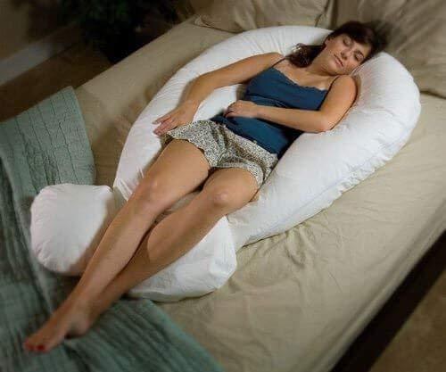 almohada de apoyo de cuerpo completo en forma de U de Epician de 3.7 m de gran tama/ño. No se incluye la funda de almohada