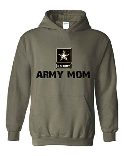 Army Mom Army Strong Apparel Unisex Hoodie Sweatshirt X-Large Military Green (Army Star Sweatshirt)