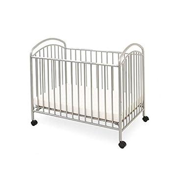 LA Baby Mini Portable Crib, Pewter
