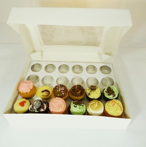 25 X Window Cupcake Box and 24 hole Cupcake Holder($3.9 per set)