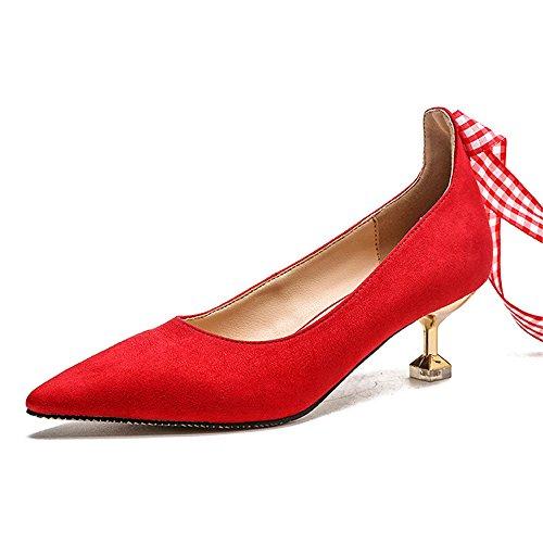 Ladies Women Ballroom Dance Shoes (red 39/8 B(M) US Women)