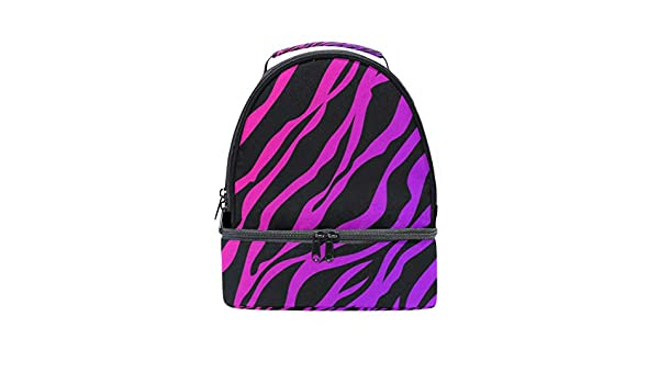 081d2742ed31 Amazon.com - HEOEH Pink Tiger Zebra Print Lunch Bag Insulated Lunch ...