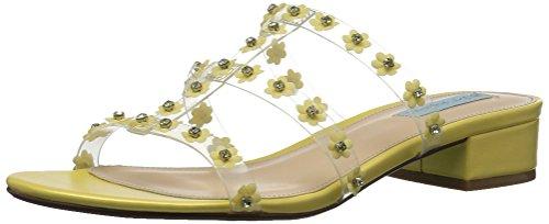 Blue by Betsey Johnson Women's SB-Arlyn Slide Sandal, Yellow, 7.5 M US by Blue by Betsey Johnson