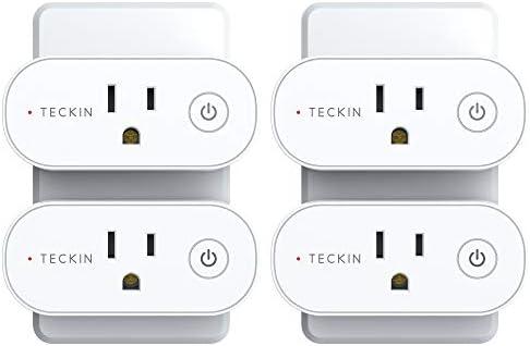 Marco magn/ético Smart Life Schuko Enchufe Temporizador con Control Remoto Compatible con Alexa Echo Google Home y IFTTT No Requiere Smart Plug TEEKAR Enchufe Pared Inteligente WiFi Alexa