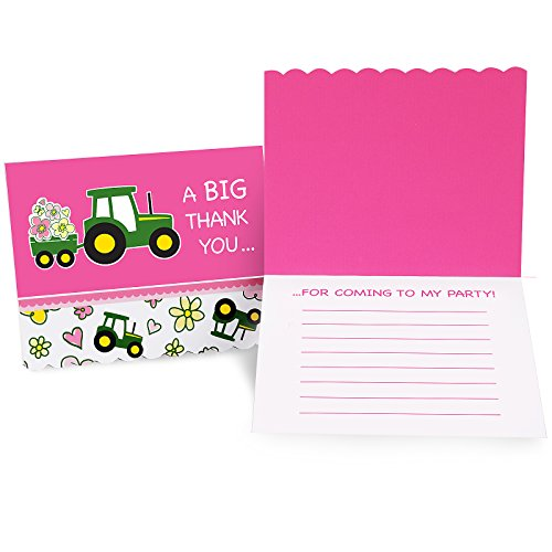 BirthdayExpress John Deere Pink Thank-You Notes - You Deere John Thank