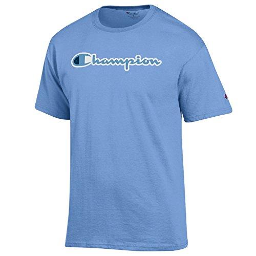 ic Jersey Script Cotton T-Shirt-Light Blue-XL ()