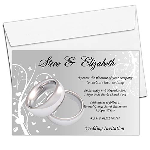 10 Personalised 60th Diamond Wedding Anniversary Invitations PHOTO Invites N21