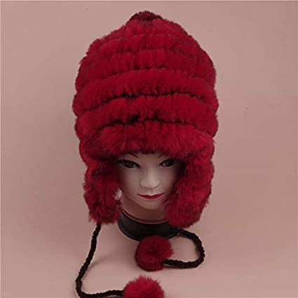 Amazon.com  FelixStore Autumn and Winter Fashion Fur Hat ren Winter Cap Lei  Feng Korean Ear Cap Thickened Warm Wool Cap  Kitchen   Dining 62969ad687a