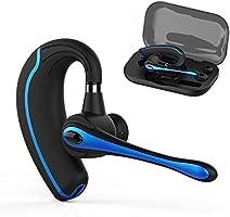 Wallesss Bluetooth ヘッドセット ブルートゥース 完全 ワイヤレス イヤホン ビジネス片耳ハンズフリー 通話 V4.1 マイク内蔵 イヤフック伸縮でき受話器が回転できる Android Iphone Windows PC スマートフォンに対応 (黒い)