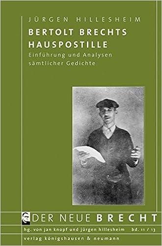 Bertolt Brechts Hauspostille Einführung Und Analysen