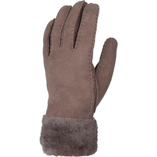 UGG Women's Classic Turn Cuff Waterproof Sheepskin Gloves Stormy Grey MD by UGG