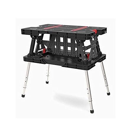Keter plegable mesa de trabajo 700-lb capacidad con piernas ...