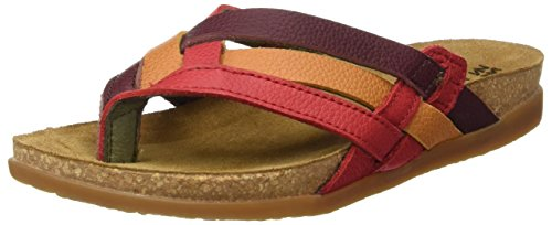 El Naturalista Women's Nf48 Soft Grain Zumaia T-Strap Sandals Grosella Mixed factory outlet shop offer cheap price wBDjSi0w