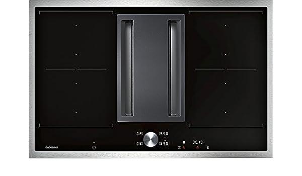 Gaggenau - Placa de inducción con campana integrada CV 282 110 con marco de acero de 80 cm: Amazon.es: Grandes electrodomésticos