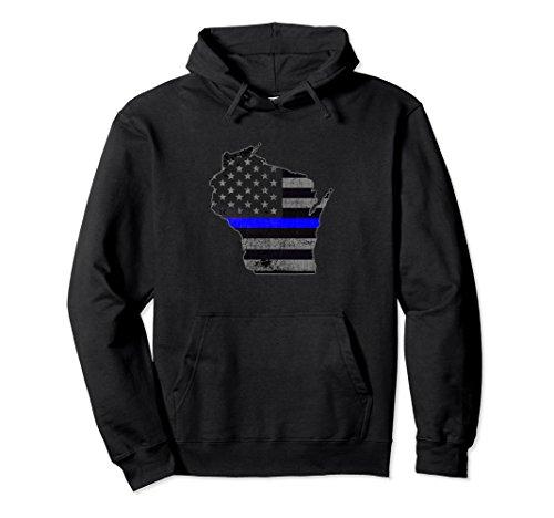 Wisconsin Police Officer's Department Hoodie Policemen ()