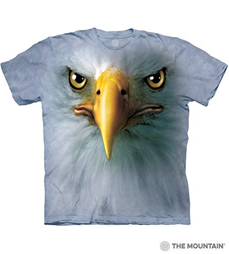 The Mountain Eagle Face Adult T-Shirt, Blue, -