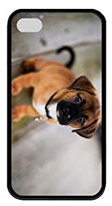 case wholesale cover cute dog pup TPU Black Case for iphone 4/4S