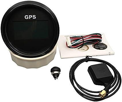 New 7/back-lights 85/mm barca auto GPS tachimetro digitale LCD velocit/à calibro contachilometri naturalmente con antenna GPS