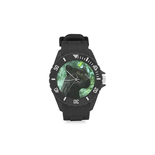 Sport Rubber Strap Watch Black panthers Pattern (Sports Panthers Watch)