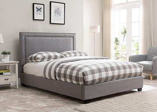 Mantua Baffin Upholstered, BAN66MG, Grey Linen, King Platform Bed,