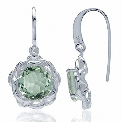 Green Amethyst Flower Dangle - 2