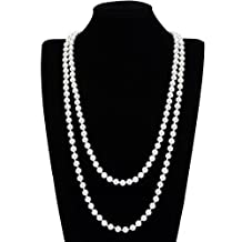 Fashion Multilayer Strand Chain Simulated Pearl Beads Cluster Long Choker Necklace New