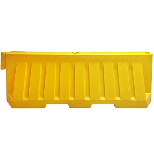 Water Fillable Jersey Traffic Barriers - 2 Meters - Yellow (Barrier Water Filled)