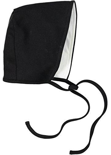 Black Costumes Bonnet (Amoureux Bebe Ultra Soft 100 cotton double ply reversible baby bonnet hat. 18-24 months)