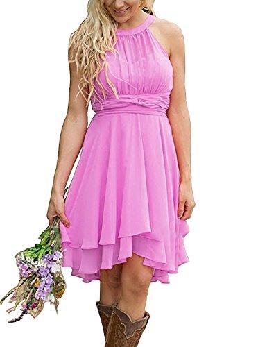 VaniaDress Women Sleeveless Short Bridesmaid Dress Formal Gowns V052LF Lilac US0 from VaniaDress