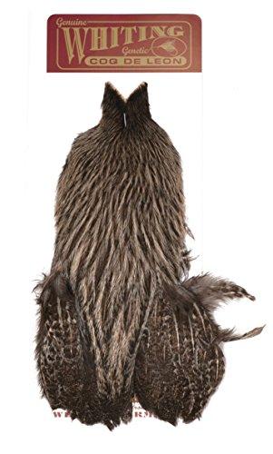 Whiting Farms Coq de Leon Hen Cape - Brown Speckled