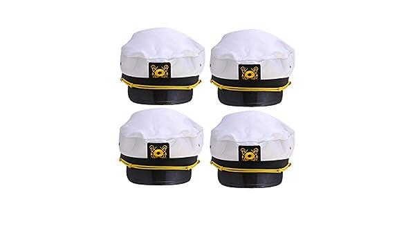 Amosfun 4 Piezas Gorro de Capitán Marinero Disfraz de Capitán para ...