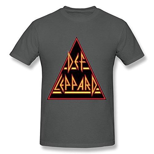FK Def Leppard Tour 2015 Logo T Shirt For Men DeepHeather - Percussion Pour