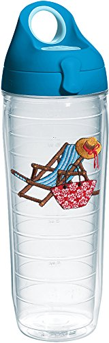 Tervis 1232006 Beach Chair Teal Tumbler with Emblem and Turq