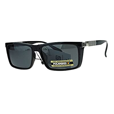 Mens Polarized Lens Sunglasses Stylish Fashion Rectangular Frame UV 400