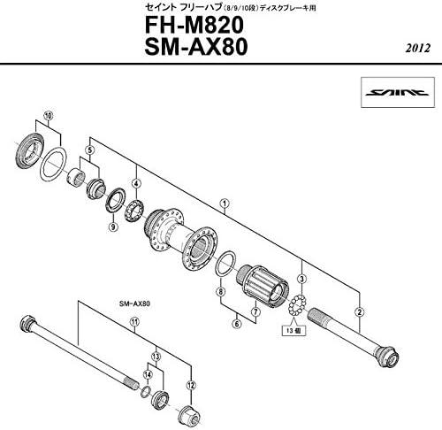 Shimano Repuesto Parte fhm810//M815/Eje Tuerca M12