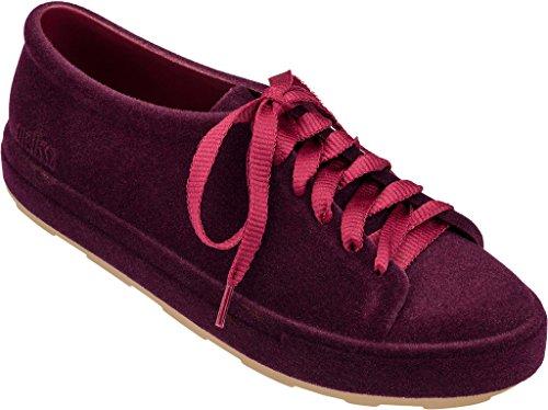 Burgundy Sneaker Flocked Be Melissa Womens Flocked wtqgxIxE