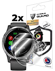 IPG for Garmin vívoactive 4 Smartwatch Screen Protector (2 Units) Invisible Ultra HD Clear Film Anti Scratch Skin Guard - Smooth/Self-Healing/Bubble -Free
