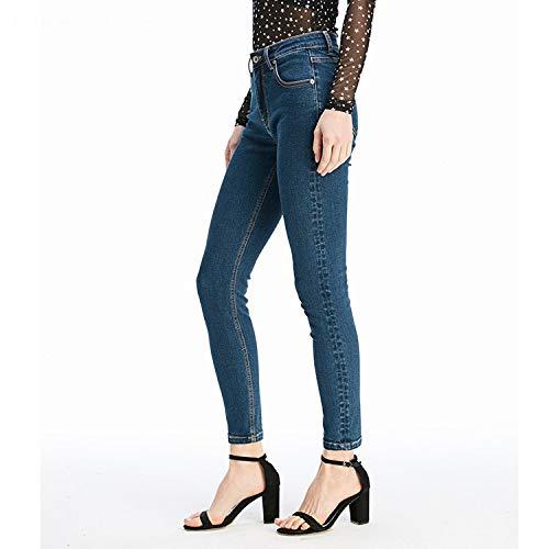 Punkte Art K neun Taille L Hosen Taille Neue Jeans Femme rperst Jeans MVGUIHZPO rke yT1nxB7qy