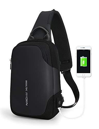 "Mark Ryden Anti-theft Sling Chest Bag Handbag for Men Waterproof Crossbody Travel Shoulder Bag Fit for 9.7"" ipad"