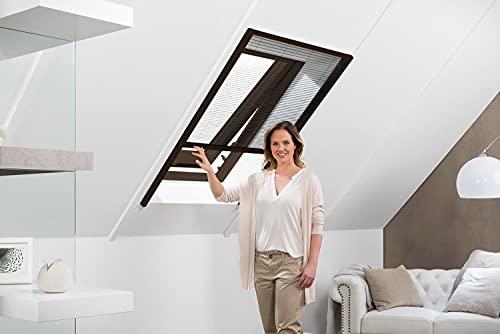 41DYpMTyReS empasa Insektenschutz Fliegengitter Dachfenster Plissee 'Master' Alurahmen verschiedene Größen in weiß und braun als…