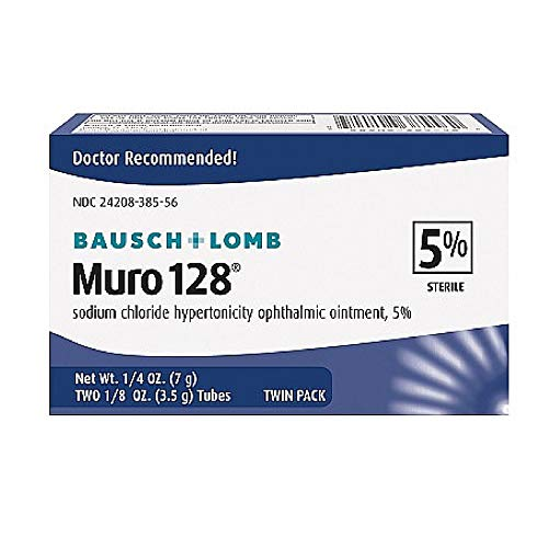 Muro 128 Sterile Ophthalmic5 Percent Ointment,twin Pack - 0.25 Oz Sku 3701117 ()