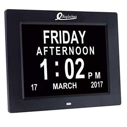 Large Led Digital Wall Clock- Electronic Calendars- Large Numbers Digital Calendar Date Day Clock for Seniors(with Dementia- Vision Impaired- Memory Issues)- Home or Office Use(8 display)