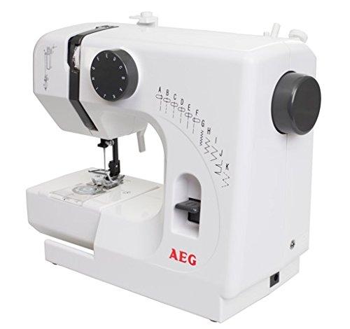 SILVA Homeline NM 100/10K Mini macchina da cucire, PVC, Bianco, 29x 13x 24cm AEG NM 100/10K