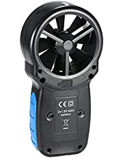 KKmoon Anemómetros de velocidad, medición de velocidad y temperatura del viento, pantalla LED de windsurf Kite Race Vela Pesca