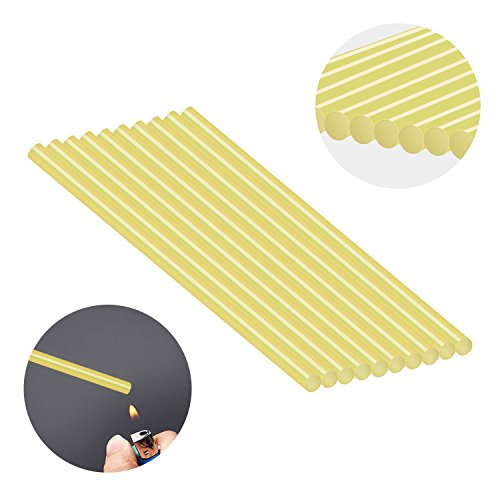 Super PDR 10pcs PDR Glue Sticks Yellow Hot Melt Glue Sticks Car Paintless Dent Repair Tool Suit for PDR Glue Gun, 6.60.43in