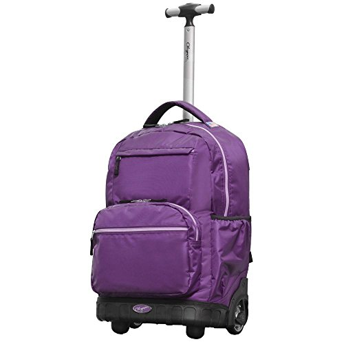 Olympia USA Melody 19' Rolling Laptop Backpack - Purple -